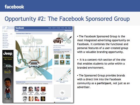 sponsored facebook groups