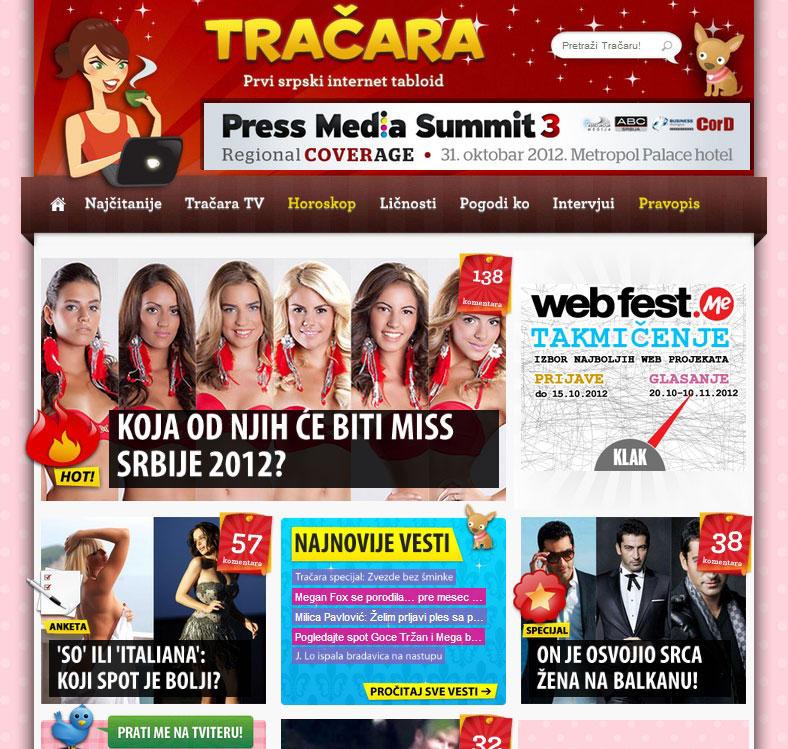 Tračara.com 2012.